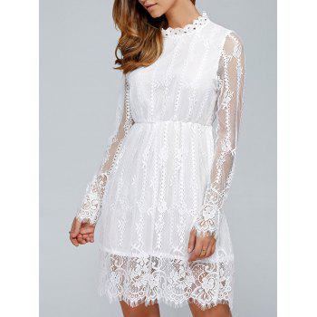 Long Sleeves See-Through Lace Dress
