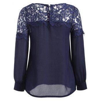 Sheer Lace Yoke Blouse - M M