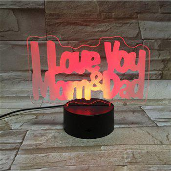 Color Changing 3D Visual LED Letter Touching Night Light - COLORFUL COLORFUL