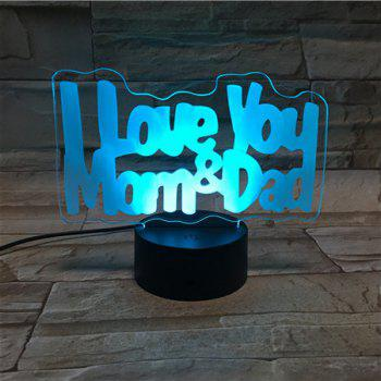 Color Changing 3D Visual LED Letter Touching Night Light -  COLORFUL