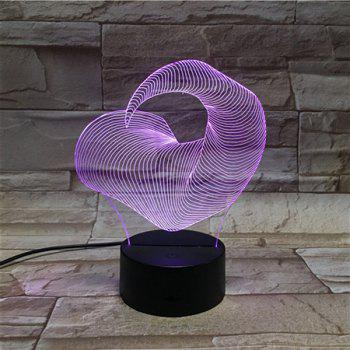 Ox Horn Shape Color Changing 3D Visual LED Touching Night Light -  COLORFUL