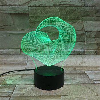 Ox Horn Shape Color Changing 3D Visual LED Touching Night Light - COLORFUL COLORFUL