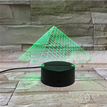 Colorful 3D Visual LED Touching Pyramid Table Night Light -  COLORFUL