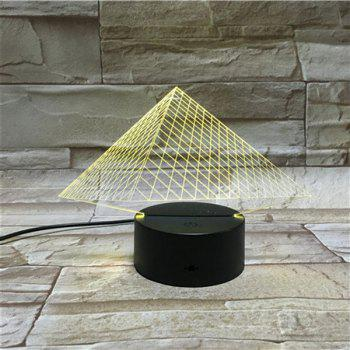 Colorful 3D Visual LED Touching Pyramid Table Night Light - COLORFUL COLORFUL