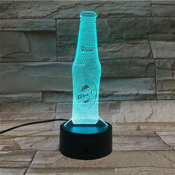 Color Gradient 3D Visual LED Beer Party AtmosphereTable Night Light -  COLORFUL