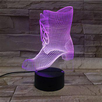 Color Changing 3D Visual LED Shoes Shape Night Light