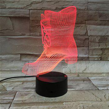 Color Changing 3D Visual LED Shoes Shape Night Light -  COLORFUL