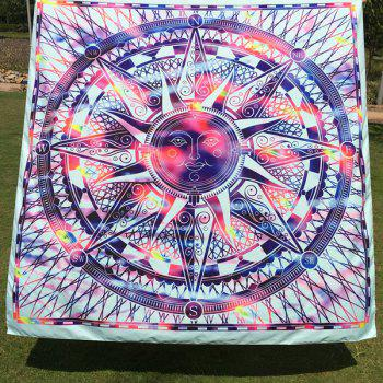 Colorful Sun God Totem Square Scarf