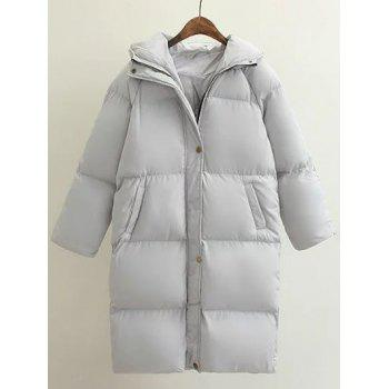 Hooded Loose Down Coat