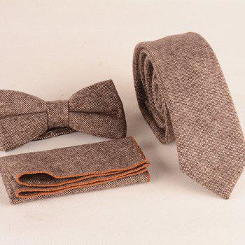 Formal Weaving Woolen Tie Pocket Square and Bow Tie