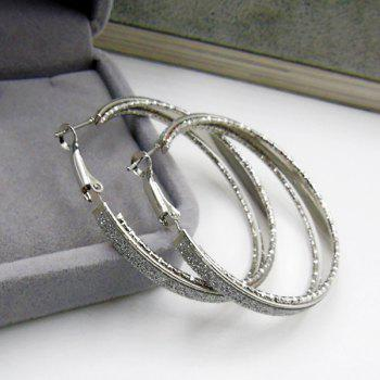 Circle Dull Polished Hoop Earrings