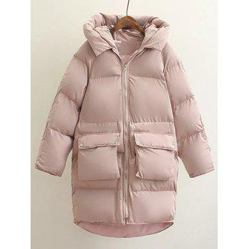 Hooded Double Pocket Down Coat