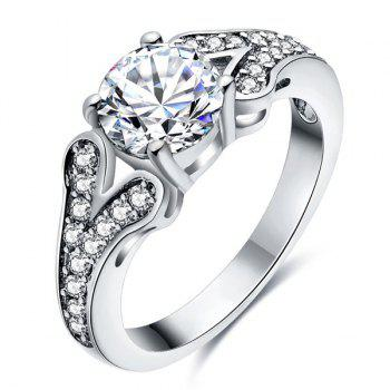 Embellished Rhinestone Engagement Ring