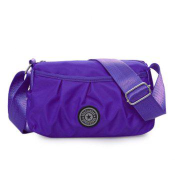 Zipper Nylon Wrinkle Crossbody Bag