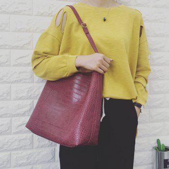 PU Leather Embossed Shoulder Bag