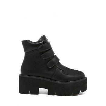 Chunky Heel Splicing Platform Short Boots