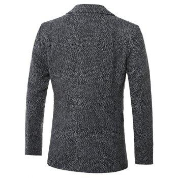 Single-breasted revers Coton Blends Manteau en laine - Gris M