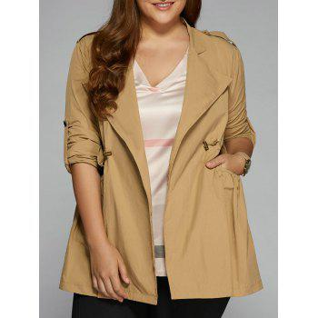 Plus Size String Trench Coat