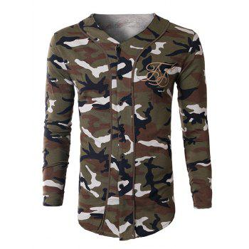 V-Neck Camo Sweatshirt