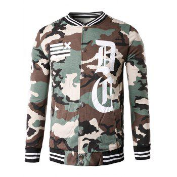 Button Up 99 Print Camo Jacket