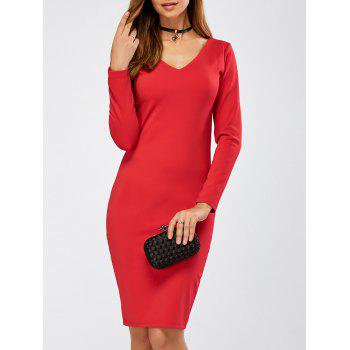 Long Sleeve Tight Cocktail Dress