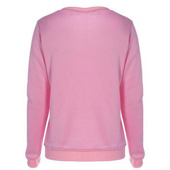 Flawless Graphic Flocking Sweatshirt - S S