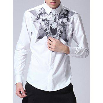 Floral Printed Long Sleeve Single-Breasted Shirt