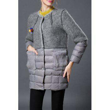 Patch Pockets Single Breasted Down Coat