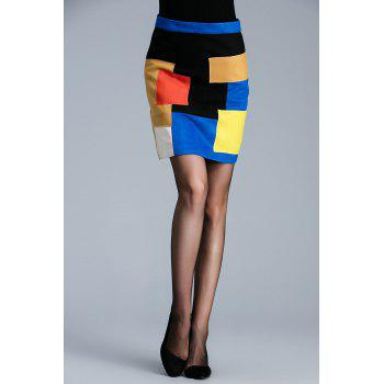Color Block Mini Skirt