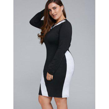 Robe longue tenue Bodycon - Blanc 4XL