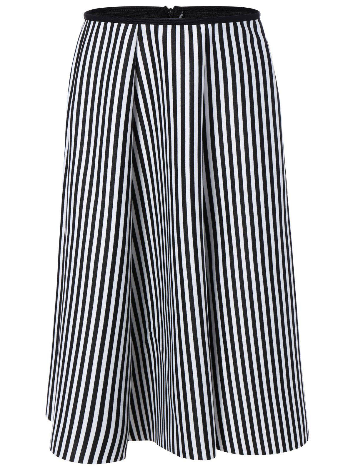 Stripe High Waisted Midi Skirt high waisted bodycon midi skirt
