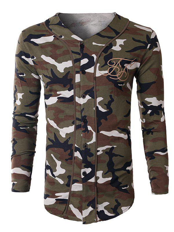 V-Neck Camo SweatshirtMen<br><br><br>Size: 2XL<br>Color: WHITE