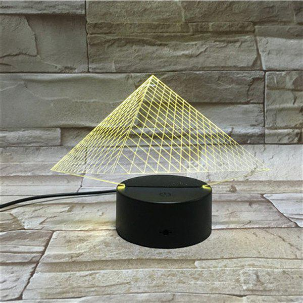 Colorful 3D Visual LED Touching Pyramid Table Night Light colorful three football shape 3d visual led table night light