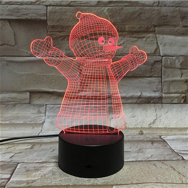 Colorful 3D Visual LED Touching Christmas Decoration Night Light - COLORFUL
