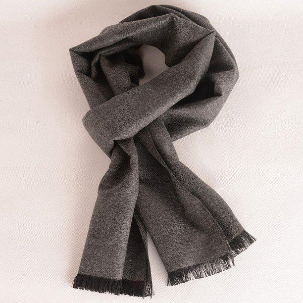 Bord Bordée Fleece Scarf - Gris
