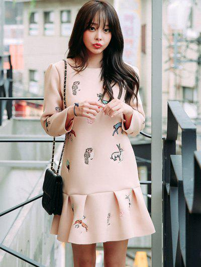 Animal Pattern Flounce Dress