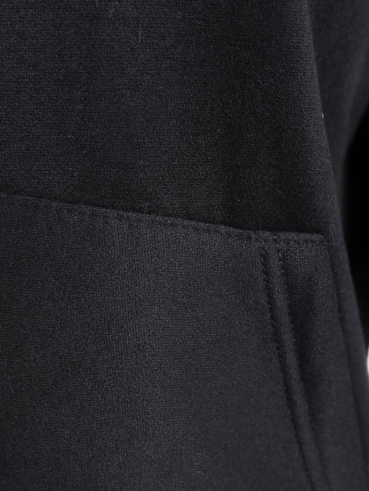Embroidered Thickening Hoodie - BLACK ONE SIZE