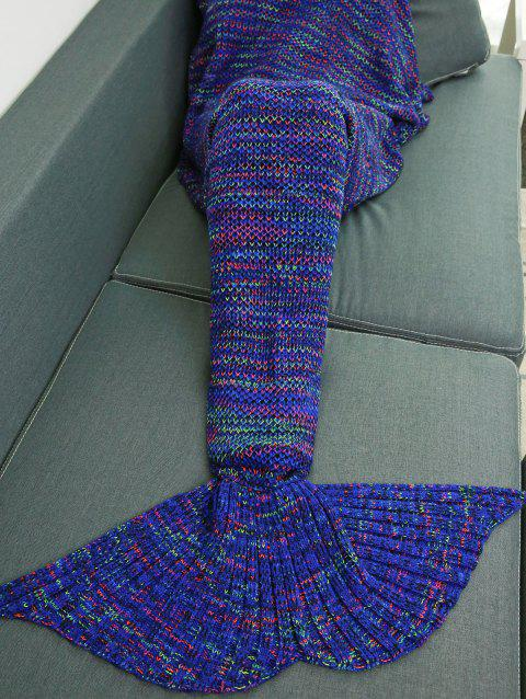 Soft Colorful Crochet Knitting Mermaid Tail Design Blanket - COLORMIX W31.50INCH*L70.70INCH