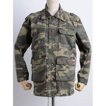 Camouflage Loose Field Jacket