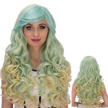 Gorgeous Colorful Long Side Bang Wavy Cosplay Synthetic Wig