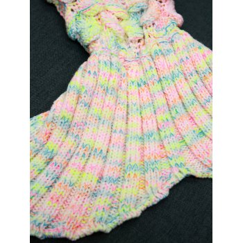 Openwork Fish Scale Design Knitting Mermaid Blanket For Kids -  COLORMIX