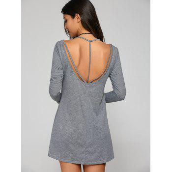 Mini Open Back T-Shirt Dress