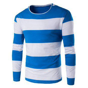 Round Neck Long Sleeve Stripe T-Shirt
