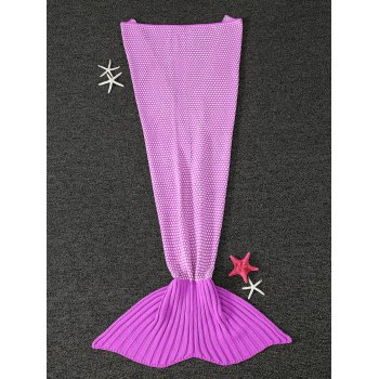Thicken Warm Little Dot Design Wrap Mermaid Tail Blanket For Kids - PINK PINK