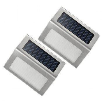 Waterproof Outdoor Decorative LED Solar Garden Lights Courtyard Wall Lamp -  COLORMIX