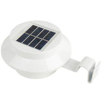 Outdoor Garden Decorative LED Solar Courtyard Fence Lamp - WHITE