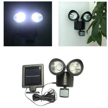 Waterproof Outdoor Decorative LED Solar Garden Lights Induction Double Wall Lamp