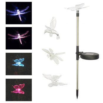 Waterproof Outdoor Decorative LED Solar Garden Lights Flight Lawn Lamp -  TRANSPARENT