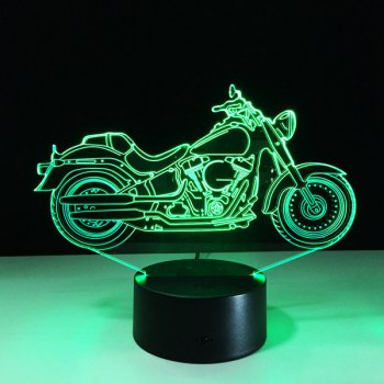 Festival 3D USB Motorcycle Shape Touch Colorful Night Light -  TRANSPARENT