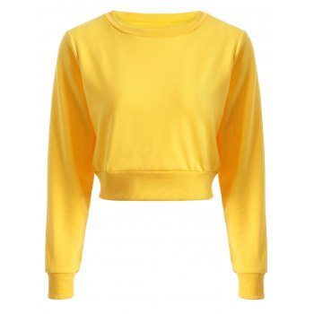 Long Sleeve Casual Sports Cropped Sweatshirt